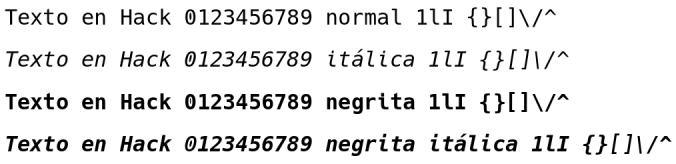 Hack-font