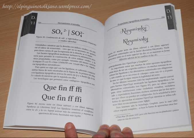 Fotografía del interior del libro